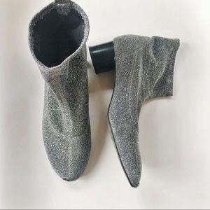 Zara sparkle sock booties (40)